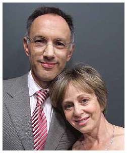Michael Moritz and his wife Harriet Heyman.